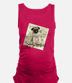 pug mom on background Maternity Tank Top