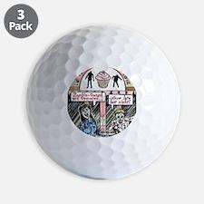 Zombie Cupcake Shop 300 Golf Ball