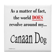 Canaan Dog World Tile Coaster