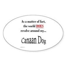 Canaan Dog World Oval Decal