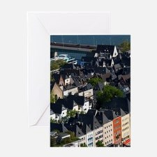 Cologne. Old town from Cologne Cathe Greeting Card