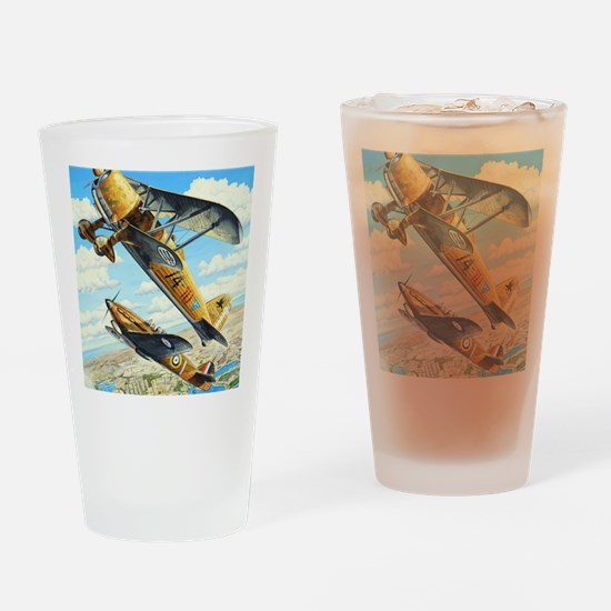 World War II Fiat CR.42 biplane Drinking Glass