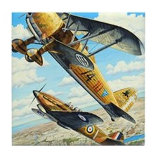World War II Fiat CR.42 biplane Tile Coaster