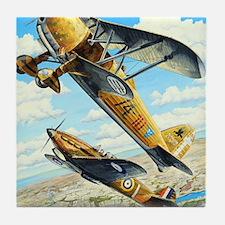 World War II Fiat CR.42 biplane Tile Coaster