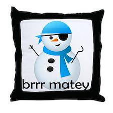 shirt_snowcapn Throw Pillow