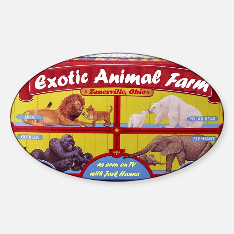 exotic animal farm Decal