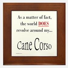 Cane Corso World Framed Tile