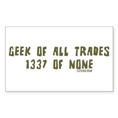 Geek of All Trades Rectangle Decal
