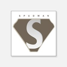 "spudman_V2 Square Sticker 3"" x 3"""
