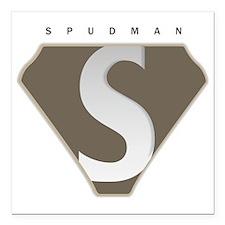 "spudman_V2 Square Car Magnet 3"" x 3"""