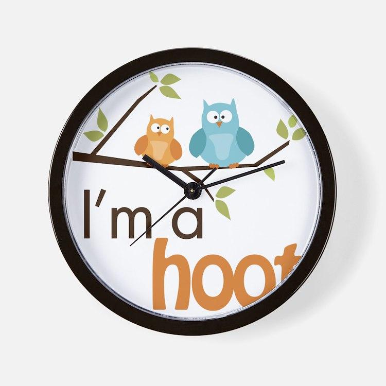 hoot_boy Wall Clock