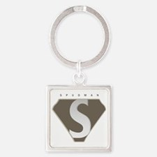 spudman_V2 Square Keychain
