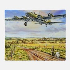 305th Bomb Group B-17 Flying Fortres Throw Blanket