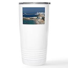 Rhodes Town: View of Rhodes Tow Travel Mug