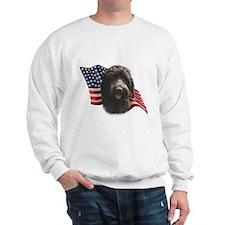 Wirehaired Griffon Flag Sweatshirt