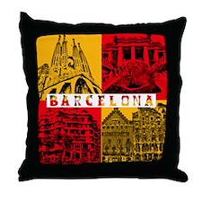 Barcelona_10x10_apparel_AntoniGaudí_ Throw Pillow