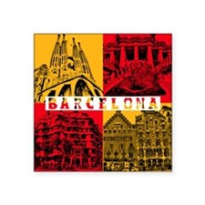 "Barcelona_10x10_apparel_Ant Square Sticker 3"" x 3"""