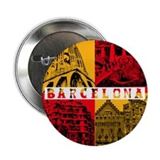 "Barcelona_10x10_apparel_AntoniGaudí_ 2.25"" Button"