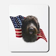 Wirehaired Griffon Flag Mousepad