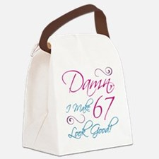 67th Birthday Humor Canvas Lunch Bag