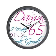 65th Birthday Humor Wall Clock