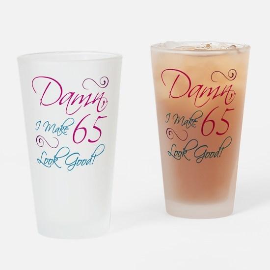 65th Birthday Humor Drinking Glass