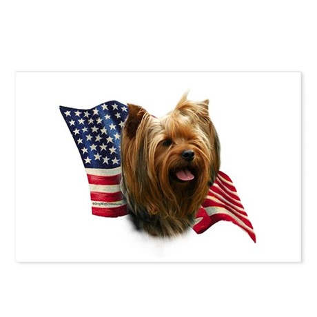 Yorkie Flag Postcards (Package of 8)