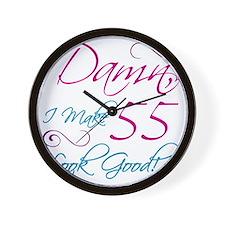 55th Birthday Humor Wall Clock