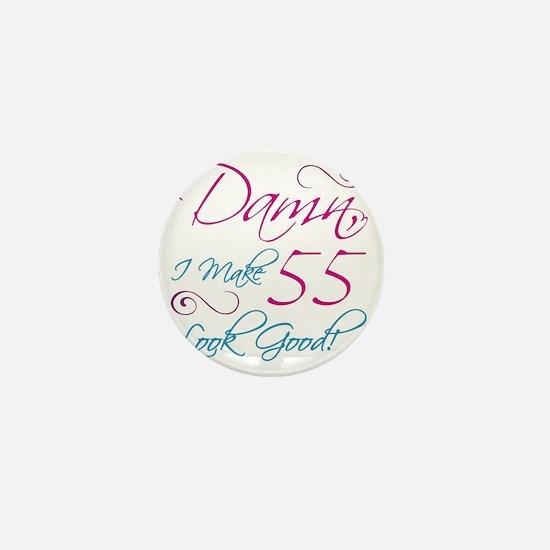 55th Birthday Humor Mini Button