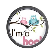 hootgirl Wall Clock