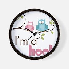 hootgirl Wall Clock