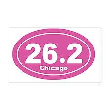 26.2 chicago marathon pink 3 Rectangle Car Magnet