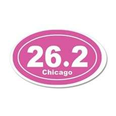 26.2 chicago marathon pink 3 35x21 Oval Wall Decal