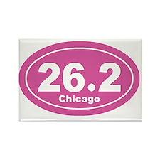 26.2 chicago marathon pink 3 Rectangle Magnet