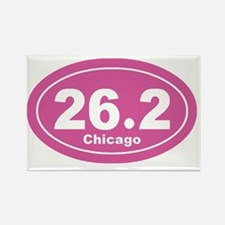 26.2 chicago marathon pink 3 Rectangle Magnet