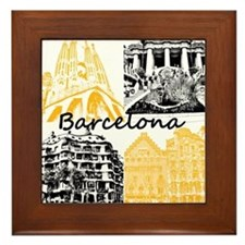 Barcelona_10x10_apparel_AntoniGaudí_B Framed Tile