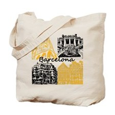 Barcelona_10x10_apparel_AntoniGaudí_Blac Tote Bag