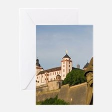 Wurzburg. Festung Marienberg fortres Greeting Card