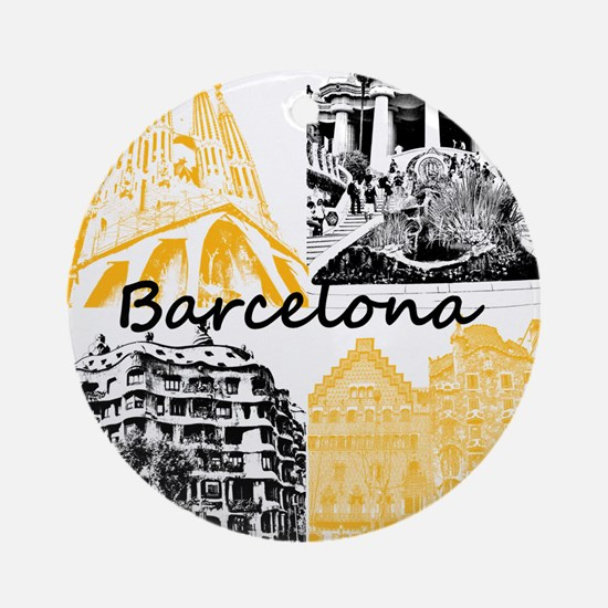 Barcelona_10x10_apparel_AntoniGaudà Round Ornament