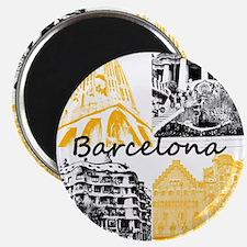 Barcelona_10x10_apparel_AntoniGaudí_BlackY Magnet