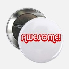 Red Awesome 80s Button