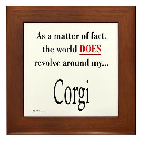 Corgi World Framed Tile
