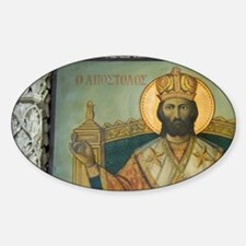 icon of Saint Barnabas at the forme Sticker (Oval)