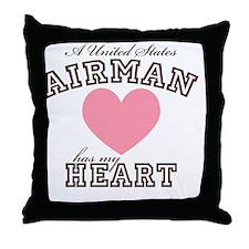 ausairmanhasmyheart Throw Pillow