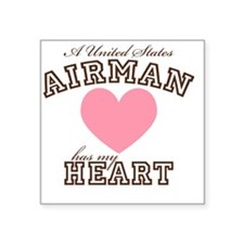 "ausairmanhasmyheart Square Sticker 3"" x 3"""