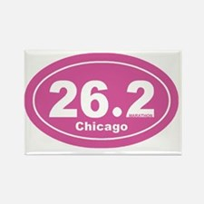 26.2 chicago marathon pink dk 2 Rectangle Magnet