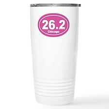 26.2 chicago marathon pink dk 2 Travel Mug