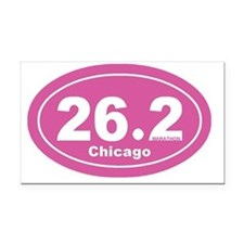 26.2 chicago marathon pink dk Rectangle Car Magnet