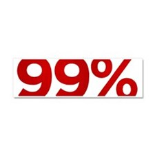99% bumper sticker white Car Magnet 10 x 3
