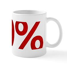 99% bumper sticker white Mug